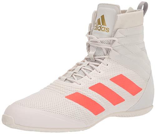 adidas Unisex Speedex 18 Boxing Shoe, White/Solar Red/Grey, 7.5 US Men