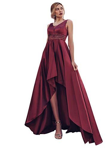 Ever-Pretty A-línea Vestido de Noche asimmetrico Cuello en V Corte Imperio para Mujer 00877