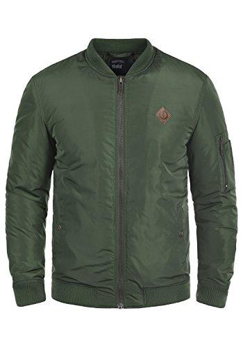 !Solid Park Herren Bomberjacke Übergangsjacke Jacke Mit Stehkragen, Größe:L, Farbe:Climb Ivy (3785)
