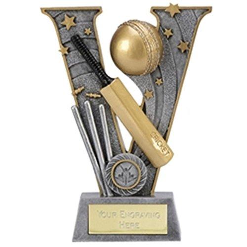 15,2cm V Series Cricket Trophy Award Plus Gratis Gravur bis zu 30Buchstaben a1493a