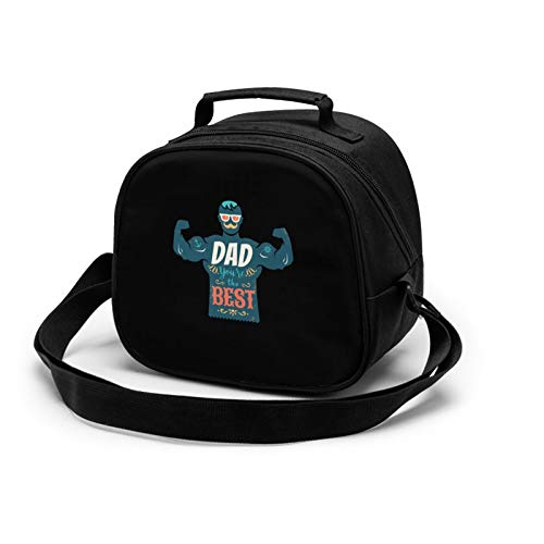 Best DAD Lunch Tote Lunch Bag Waterproof Reusable Lunch Box Portable Meal Bag Ice Pack For Kids Boys Girls