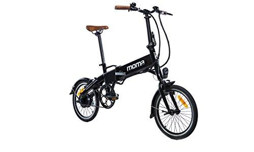 Moma Bikes BIE16NUN, Bicicleta Elettrica Pieghevole Unisex – Adulto, Nero, Unica
