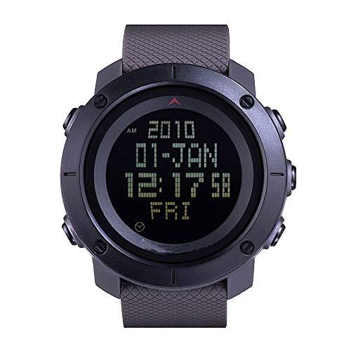 5 ATM waterdichte digitale militaire horloges, heren militaire chronograaf, zwart sportief waterdicht ontwerp