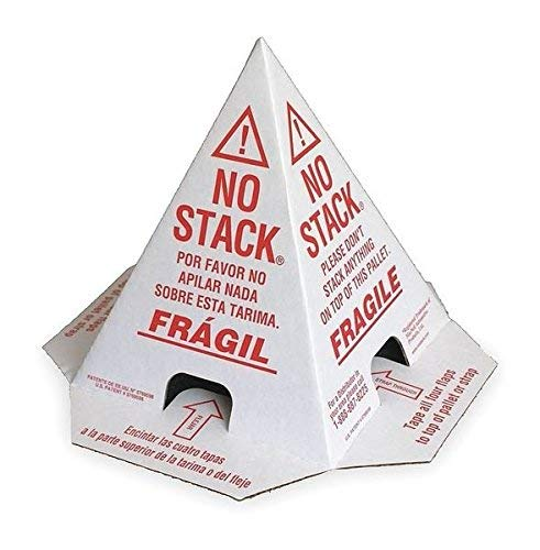No Stack Price reduction Super special price Pallet Cones - 8x8 White Red Tri-Lingual