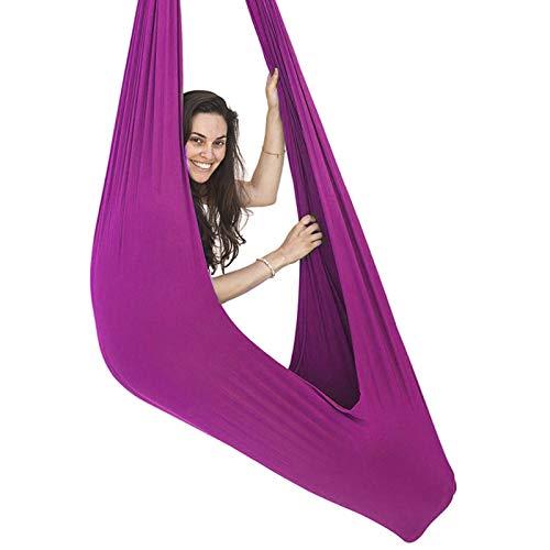 MTFZD Sensory Swing Hammock Swing For Adults Kids Hanging Hammock Swing Cuddle Indoor Outdoor Hammock For Children Sensory Integration (Color : Purple, Size : 100 x 280 cm (L x W))