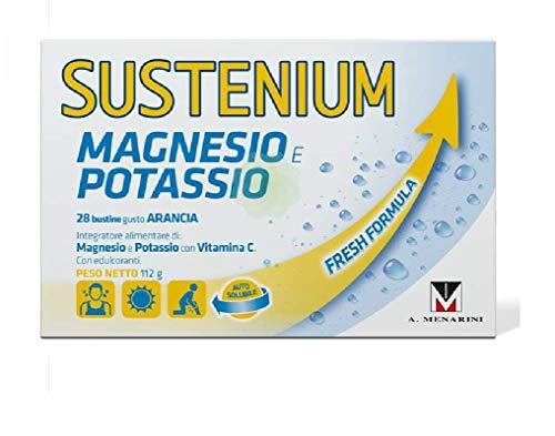 SUSTENIUM Magnesio E Potassio Integratore Gusto Arancia 28 Bustine