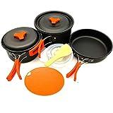 YSCYLY Kit De Acampar De Cocinar,Juego de Utensilios de Cocina 12PCS con Bolsa de Almacenamiento para Tabla de Cortar,para Mochilero, Camping Al Aire Libre Senderismo Y Picnic