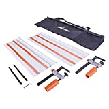 Evolution Power Tools ST1400 Track/Guide Rail For Circular Saws (Clamps and Carry Bag Included), 1400 mm