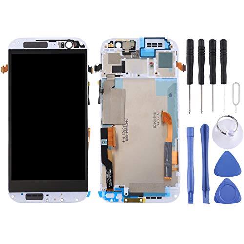 Handyzubehör LCD-Bildschirm Bildschirm Ersatz-Touch-Display LCD Digitizer Assembly mit Frontkamera Proximity Sensor + Full-Reparatur-Werkzeuge for HTC One M8 Dual-SIM (weiß) (Color : White)