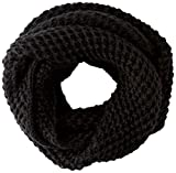 LEVIS FOOTWEAR AND ACCESSORIES Classic Knit Infinity Bufanda para clima frío, Nerón, UN para Mujer
