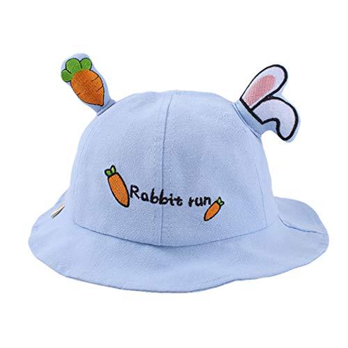 SOIMISS Lindo Conejo Orejas Cubo Sombrero Niños Anti- UV Pescador Sombrero Algodón Bebé Gorra Protección Solar Sombrero