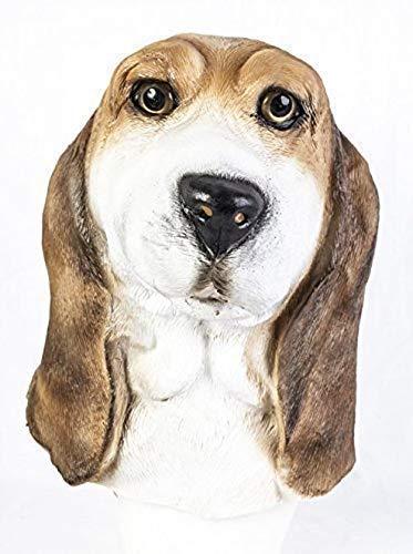 Le caoutchouc plantation TM 619219293402 Bassett Masque en latex sang Hound Beagle Dog canine réaliste accessoire de costume de Halloween, femme, taille unique