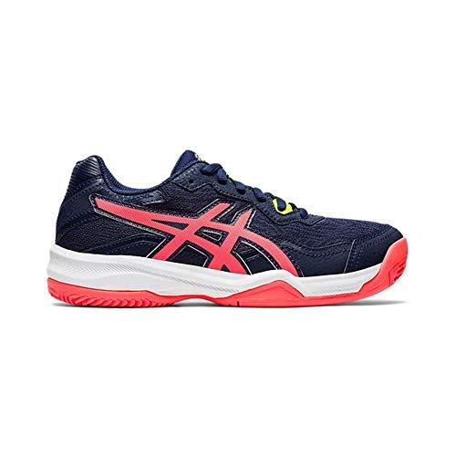 Asics Gel-Padel Pro 4 GS, Sneaker, Peacoat/Flash Coral, 40 EU