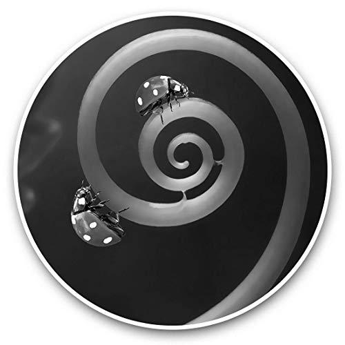 Impresionantes pegatinas de vinilo (juego de 2) 7,5 cm (bw) – Ladybird Ladybug Nature Macro divertidos calcomanías para portátiles, tabletas, equipaje, reserva de chatarra, neveras, regalo genial #42335