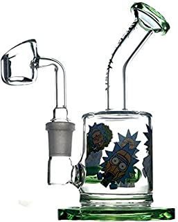 Morgan Sam New 4-inch Striped Art Spiral Glass Thick and Durable Color As Shown