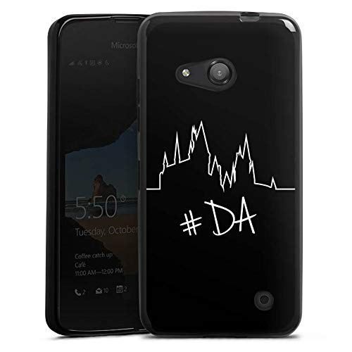 DeinDesign Silikon Hülle kompatibel mit Microsoft Lumia 550 Hülle schwarz Handyhülle Zocken YouTube Computerspiel