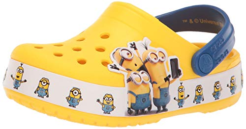Crocs Fun Lab Minions Multi, Zoccoli Unisex-Bambini, Giallo (Yellow 730), 23/24 EU