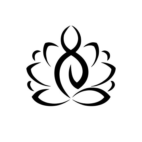 Lotus Yoga Silhouette Vinyl Decal Sticker | Cars Trucks Vans SUVs Walls Cups Laptops | 5.5 Inch | Black | KCD2716