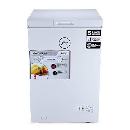 Godrej 100 L Deep Freezer ( DpFrz GCHW110R6SHC Htop White )