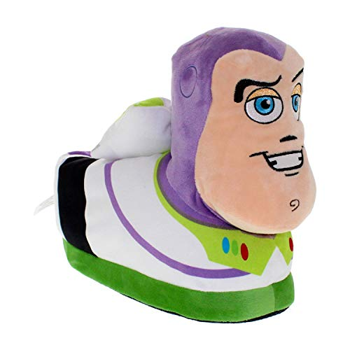 7035-9 - Disney-Pixar Toy Story - Buzz Lightyear Slippers - X-Small - Happy Feet Mens and Womens Slippers