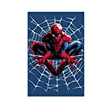 Ghychk Spider-Man Web Heroes Art Prints Decorative Painted Sofa Background Wall for Home and Office Decorations Ready to Hang 12x18inch(30x45cm)