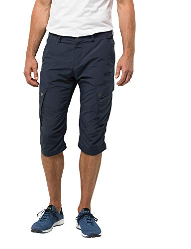 Jack Wolfskin Herren Desert Valley 3/4 Hose, Night Blue, 50
