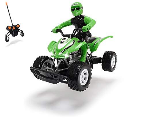 Dickie Toys RC Kawasaki KFX 450R, ferngesteuertes Quad, Spielzeugquad mit Funkfernsteuerung, mit Licht, Geschwindigkeit bis zu 9 km/h, inkl. Batterien, 36 cm