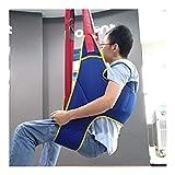 Grúa de paciente portátil de transferencia de honda de la correa, en movimiento suave Assist alzamiento de la marcha del arnés del cinturón ajustado Heights de dispositivos, for la tercera edad, disca