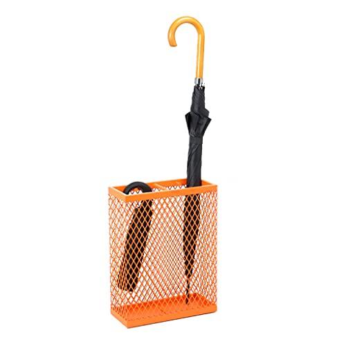 Estante de Paraguas del Tenedor del Paraguas de la Red del Metal con el Cubo del Paraguas de 2 Ganchos para la Entrada