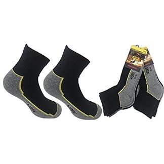Planet Socks 6Pares Calcetines Calcetines Cortos (sopra la Tobillo) de algodón para Hombre de Trabajo–Tela Trama Libro para Toda la Longitud de la Planta del pie
