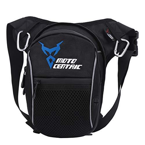 Eshow Beintasche Motorrad Oberschenkeltasche Hüfttasche wasserdicht erweiterbar für Damen und Herren klein zum Outdoorsport Radfahrren Wandern schwarz
