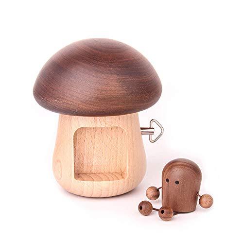 MASII Hölzerne Spieluhr Pilz Europäische Ornamente Kreative Geschenke Nordischen Kunsthandwerk Für Liebhaber