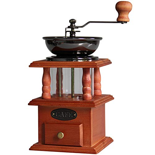HCDMRE Kaffeemühle, Manuelle konische Bohrmühle aus Gusseisen für den Heimgebrauch, handbetriebene Kaffeebohne und Gewürzmühle