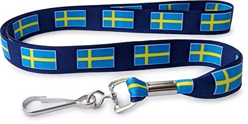IDやキーチェーン用スウェーデン国旗ネックストラップ デンマークプライドフラッグ