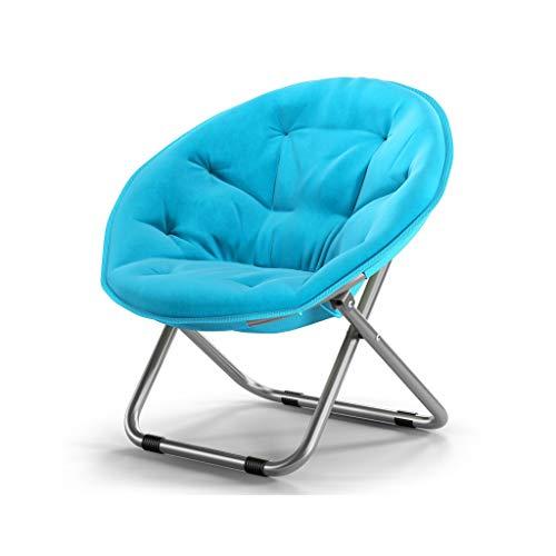 Chaise Pliante Canapé Paresseux Ordinateur Canapé Chaise Salon Chambre À Coucher Fauteuil Dortoir Fauteuil Multifonctionnel Canapé (Couleur : Bleu)