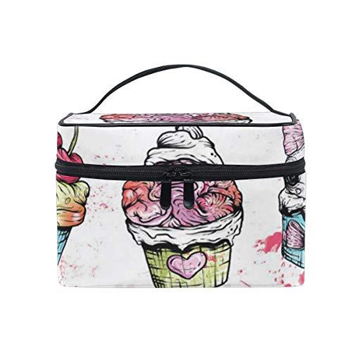 Schminktasche Zombie Cupcake Kosmetiktasche Tragbare große Kulturtasche für Frauen/Mädchen Reisen