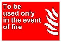 火災が発生した場合にのみ使用する 金属板ブリキ看板警告サイン注意サイン表示パネル情報サイン金属安全サイン