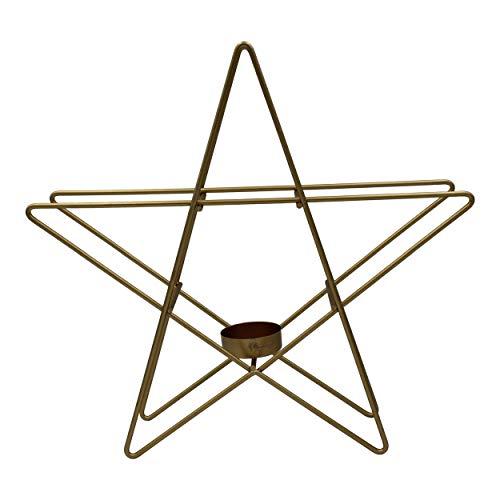 Housevitamin kandelaar 'ster' 28 cm - kaarsenhouder/kaarsenstandaard kerst - goud