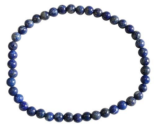 Armband, lapis lazuli, ronde parels, 4 mm