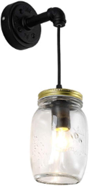 LQ Wandleuchte Raum Einfache Glas Gang Schlafzimmer Studie Nachttisch Cafe Bar Kreative Persnlichkeit Led Wandleuchte