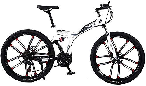 24/26 pulgadas, 21/24/27 velocidades, amortiguadores delanteros y traseros para bicicleta de montaña Cross Country Bicycle Student BMX-26 pulgadas 21 velocidad.