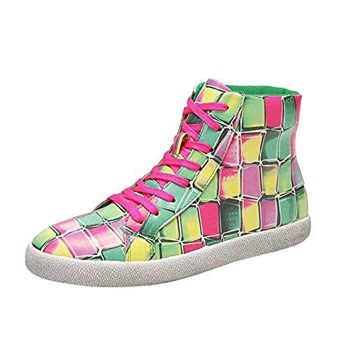 Zapatillas Mujer Casual Deportivas Caminar para Mujer Slip on Calzado de Uela Blanda Transpirable Deporte Zapatos de Correr Running Sneakers Ligeras Zapato(M30_Multicolor,40)