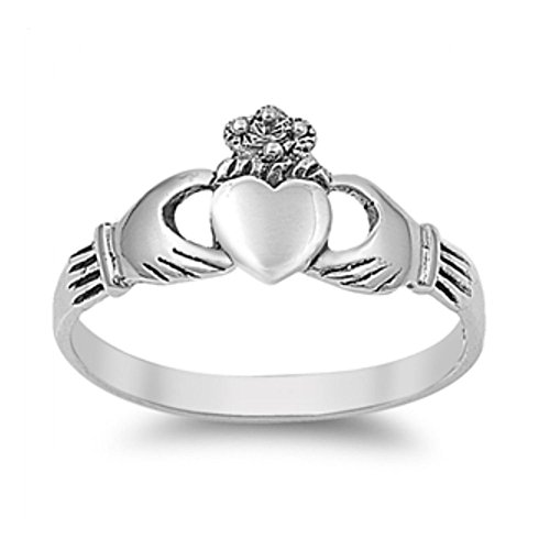 Anillo de Claddagh de plata esterlina