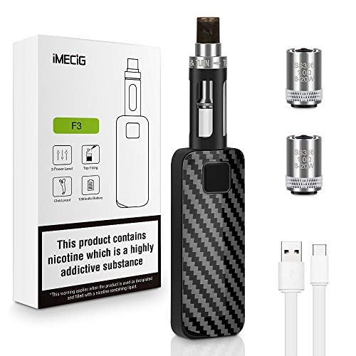 Vape Pen Box Mod con batería de 1200mAh Imecig F3 E Kit de inicio de cigarrillos con 2 * 1.0 0hm 2ml Tanque de recarga superior E Cigarrillos E Cig Sin nicotina Sin líquido