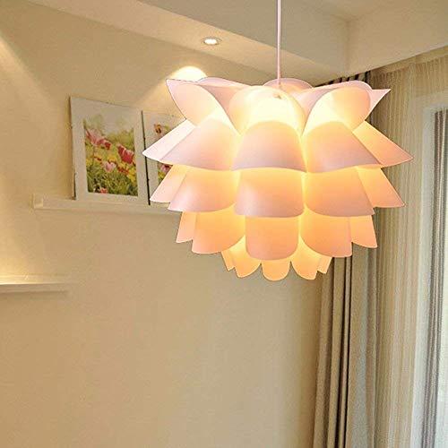 Lámparas de Chandeliers Lámpara Colgante Lámpara Restaurante Luz Moderna PVC Simple Lotus White 7W Led Luz Blanca 35Cm