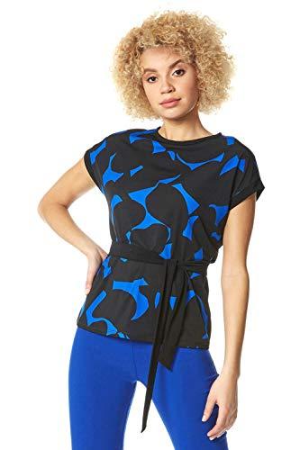Romeinse Originelen Vrouwen Abstract Print Belted Taille Top - Dames Mode Tuniek Casual Elke dag Formele Feesten Bijeenkomsten Speciale Gelegenheid Zomer Vakantie Werk Smart Wear Tops