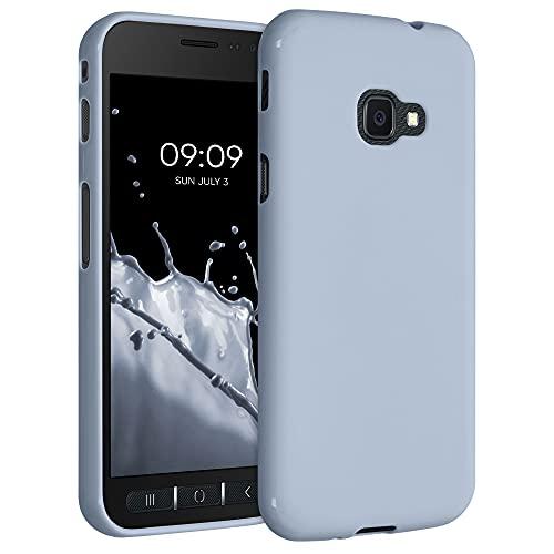 kwmobile Hülle kompatibel mit Samsung Galaxy Xcover 4 / 4S - Hülle Silikon - Soft Handyhülle - Handy Hülle in Hellblau matt