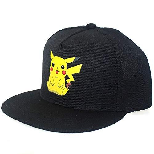 GZSC Chapeau Nouveau Dessin Animé Anime Pokemon Pikachu Logo Impression Casquettes de Baseball Hip-Hop Cap for Hommes Femmes Unisexe D'été Soleil Chapeaux Réglable (Color : 02)