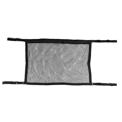 Changor Mesh de Rangement de Voiture compliqué, Articles intérieurs de Voiture en Tissu de Polyester 78 x 56cm Sac de Rangement de Voiture (Noir)