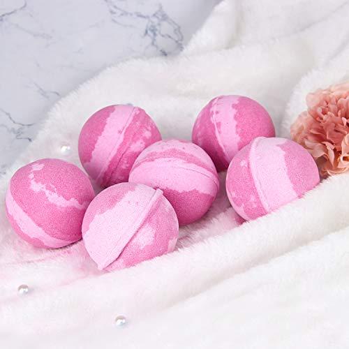 BODY & EARTH Bath Bombs Gift Set 6 X 4.2 oz Natural Essential Oils Berry Scent Handmade Bubble Bath...
